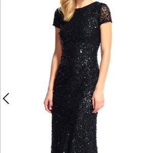 ✨price drop✨ Adriana Papell sequins mesh gown